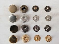 100 Sets 10/12/15mm Metal Snap Buttons Fasteners Poppers Press Stud
