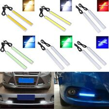 2pcs COB Car LED Daytime Running Light DRL Fog Driving Lamp Aluminum Waterproof