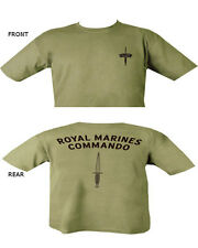 Royal Marines Commando T Shirt Double Print Military