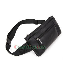 New Men Genuine Leather Messenger Sling Chest Hip Belt Bum Fanny Pack Waist Bag