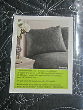 Amy Butler Quilted Sham Gray Blue Dream Daisy Bucharest Organic Cotton 20x26 NEW