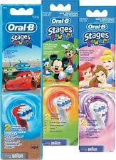 Oral-B Stages Power Disney Toothbrush Heads Cars, Princess or Mickey Multipacks