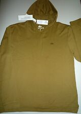 NWT Lacoste Long Sleeve Garment Dyed Hoody T-shirt ~ size M