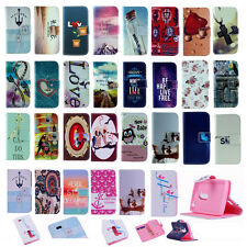 Vintage Stand Wallet Flip PU Leather Rubber Hybrid Case Cover For LG Cell Phone