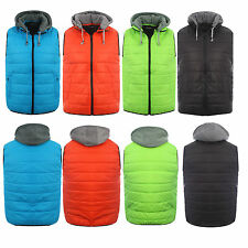 SLIM FIT MENS BOYS QUILTED PADDED LIGHTWEIGHT GILLET BODYWARMER JACKETS COATS