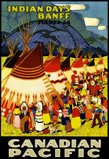 1925 - Canadian Pacific - Indian Days - Banff - Travel Advertising Poster