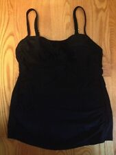 Merona Tankini Swimsuit TOP NEW Black Pick size