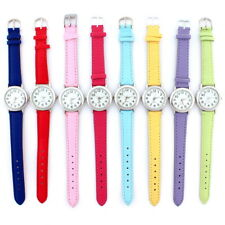 6 Color New Lady White Dial Girl Leather Strap Dress Fashion Wristwatch U12