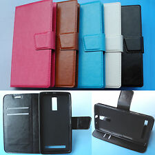 "5"" ZTE Blade V220--Flip Leather Case Cover Etui housse coque Cuir 4G LTE"