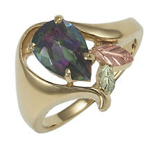 10K Black Hills Gold Ladies Ring with Mystic Fire Topaz Size 4 to 10