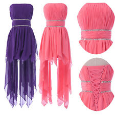 Clearance Sexy Formal Evening Party Purple gown Bridesmaid Beach Boho prom Dress