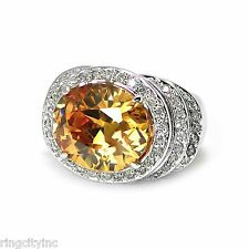 Champagne and Pave CZ Ring Size 5 6 7 8 9 10 11 FREE SHIPPING