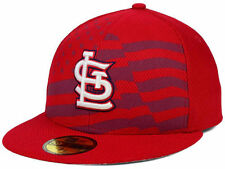 Official MLB 2015 St Louis Cardinals July 4th Stars Stripes New Era 59FIFTY Hat