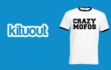 Crazy Mofos Unisex Ringer T-Shirt 1D One Direction Harry Niall Swag Hipsta Top