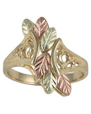 10K YELLOW GOLD; 12K ROSE AND GREEN BLACK HILLS GOLD WOMENS LADIES RING