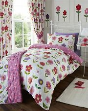 Floral Girls Quilt Duvet Cover & Pillowcase Bedding Bed Set Kids Junior Single