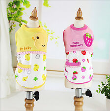 Pet Vest Puppy Summer Clothes Dog Cat T Shirt Outfit Apparel Costume Chihuahua