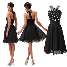 CHEAP BEADED Short Mini Cocktail Dress Party Prom Evening Formal Bridesmaids HOT
