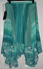 MARKS AND SPENCER PER UNA AQUA CHIFFON HANDKERCHIEF SKIRT BNWT 8 10 12 14 16