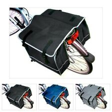 LARGE DOUBLE BICYCLE CYCLE PANNIER BAG WATER RESISTANT REAR BIKE RACK CARRIER