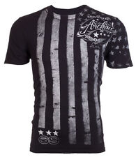 Archaic AFFLICTION Mens T-Shirt NATION American Customs USA FLAG Biker M-3XL $40