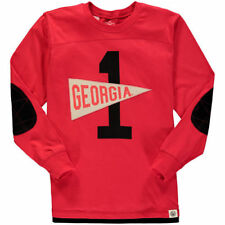 Youth Wes & Willy Red Georgia Bulldogs Pennant Jersey Long Sleeve T-Shirt