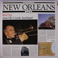 KID ORY: Sounds Of New Orleans, Vol. 9 LP (Mono, Sweden) Jazz