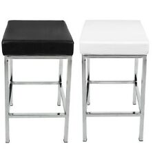 Brand New Vienna PU Leather Bar Stool Kitchen Chair Black / White Postage Free