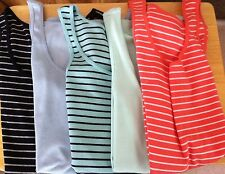 "NWT Womens ""GAP"" Ribbed Striped & Solid Stretch Tank Top (Asst Colors & Sizes)"