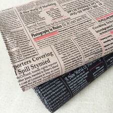 Japanese Vintage Chic Hot Off The Press Old Newspaper Cotton Linen Fabric