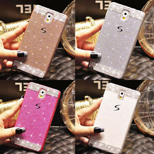 Luxury Bling Glitter Sparkle Crystal Diamond PC Hard Case Back Cover For Samsung