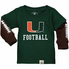 Infant Wes & Willy Green Miami Hurricanes Football Fooler Long Sleeve T-Shirt