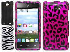 For Cricket ZTE Sonata 2 HARD Protector Case Snap on Phone Cover +Screen Guard