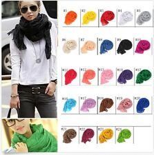 POP trend Girls Women Pure Candy Long Crinkle Soft Scarf Wrap Voile Wraps Shawl