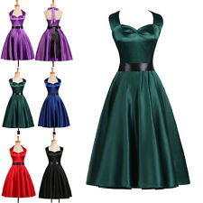 VINTAGE 1950s 1960s STYLE Rockabilly Retro Pinup Swing Prom Party Evening Dress