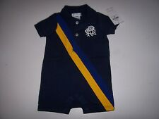 NEW Polo Ralph Lauren Baby Boy Romper Jumpsuit Shortall big pony one piece onesy