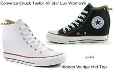 CONVERSE Chuck Taylor All Star LUX Women Wedge Platform Mid Sneakers White 9 9.5