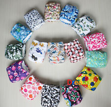 New Baby Printed Cloth Diaper Nappy Pocket Reusable Adjustable Snap Closure Lot