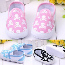 New Infant Toddler Baby Boy Soft Sole Shoes Anti-slip Skull Sneaker Overshoes