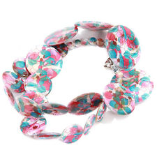 1/5pcs Wholesale Stylish Women Ladies Colorful Patterns Oblate Shell Necklaces L