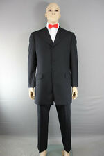 PURE WOOL EX HIRE PRINCE EDWARD JACKET/FORMALWEAR WEDDING BLACK FROCKCOAT 38-48""