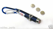 Mini 5mw 2in1 LED Flash Light & Red Laser Pointer  with Keychain blue