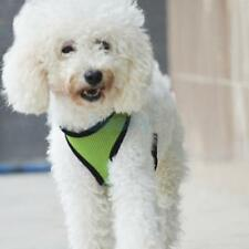 Pet Dog Puppy Soft Mesh Safety Collar Harness Clothes Walk Vest Size S-XL Green
