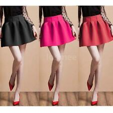 New Fashion  Korean Women Girl Mini Skirt Ball Gown High Waist Pleated Skirt  LS