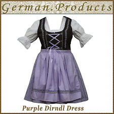 German Bavarian Oktoberfest Trachten 3 Pcs Purple Dirndl Dress ,US Sizes:4 To 18