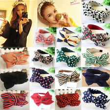 Cute Lady Girls  Sweet Big Bow Ribbon Hair Accessory Headband Bow Head Band