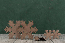 Mdf wooden snowflake craft shapes. Blanks for personalised xmas decorations- 2mm