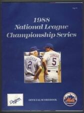 1988 NLCS Program Los Angeles Dodgers Lasorda New York Mets Johnson