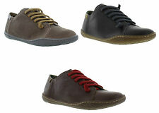 New Camper 20848 Peu Cami Leather Black Brown Womens Ladies Shoes Size UK 6,7,8