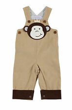 Mud Pie MH5 Safari Baby Boy Corduroy Monkey Overalls 1032231